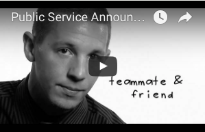 "Public Service Announcement on ADAP showing patient with the words, ""teammate & friend."""