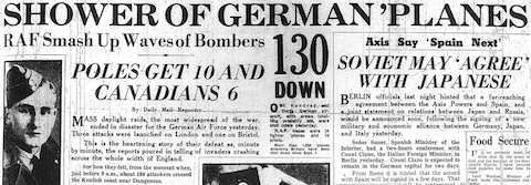 28 September 1940 worldwartwo.filminspector.com Daily Mail Headlines