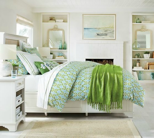 Green Coastal Bedroom