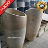 Paket wastafel plus pedistal marmer tulungagung unik asli batualam diameter 40 cm