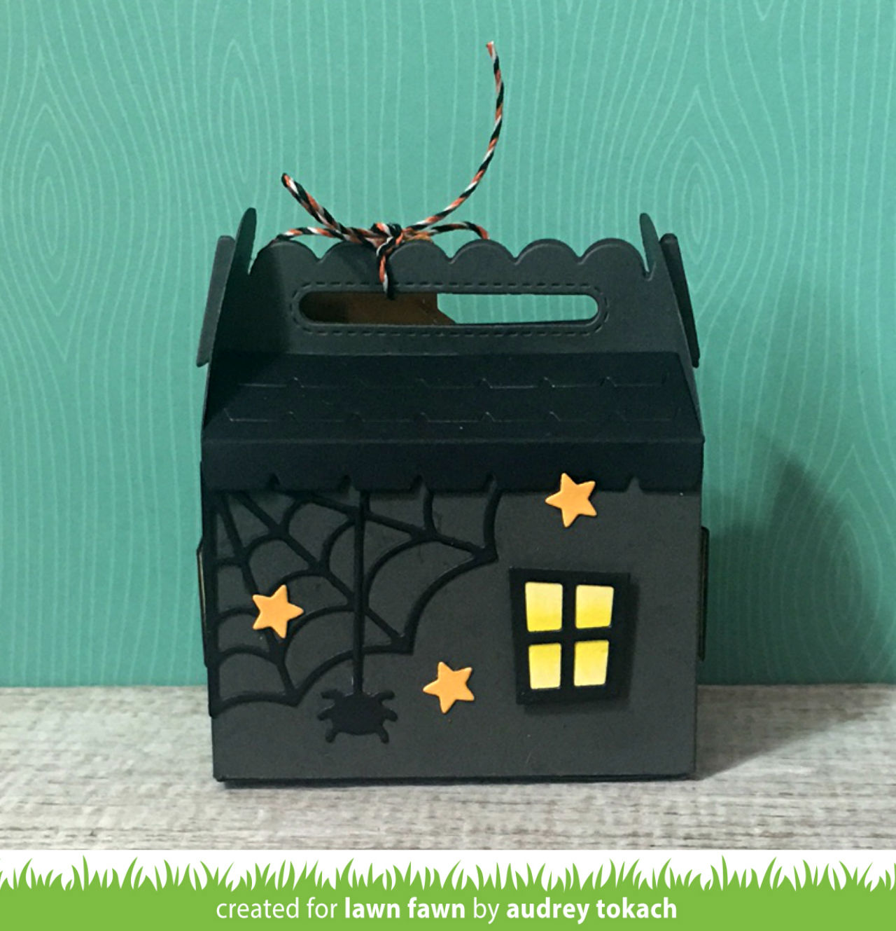Meaning Of Shut The Front Door: Lawn Fawn Intro: Scalloped Treat Box Haunted House Add-On