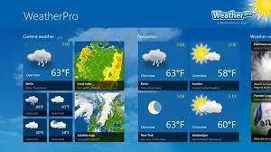 Weatherpro te da informacion meteorologica del tiempo