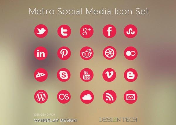 Perbedaan Metro Design dan Flat Design - Metro Icon