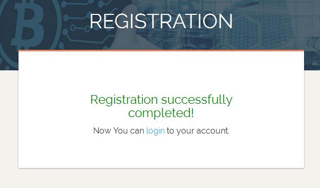 Завершение регистрации в CryptoEra