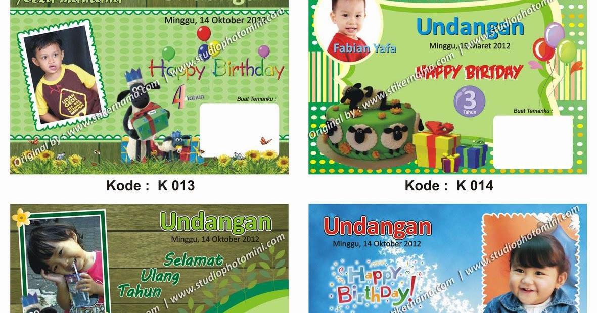 Desain Kartu Undangan Ulang Tahun Anak Cdr - Temukan Contoh