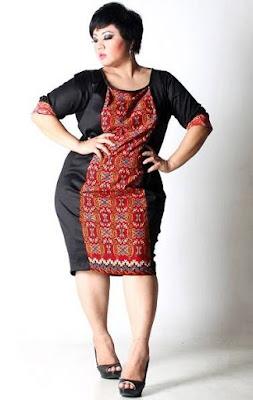 model baju batik wanita gemuk untuk pernikahan
