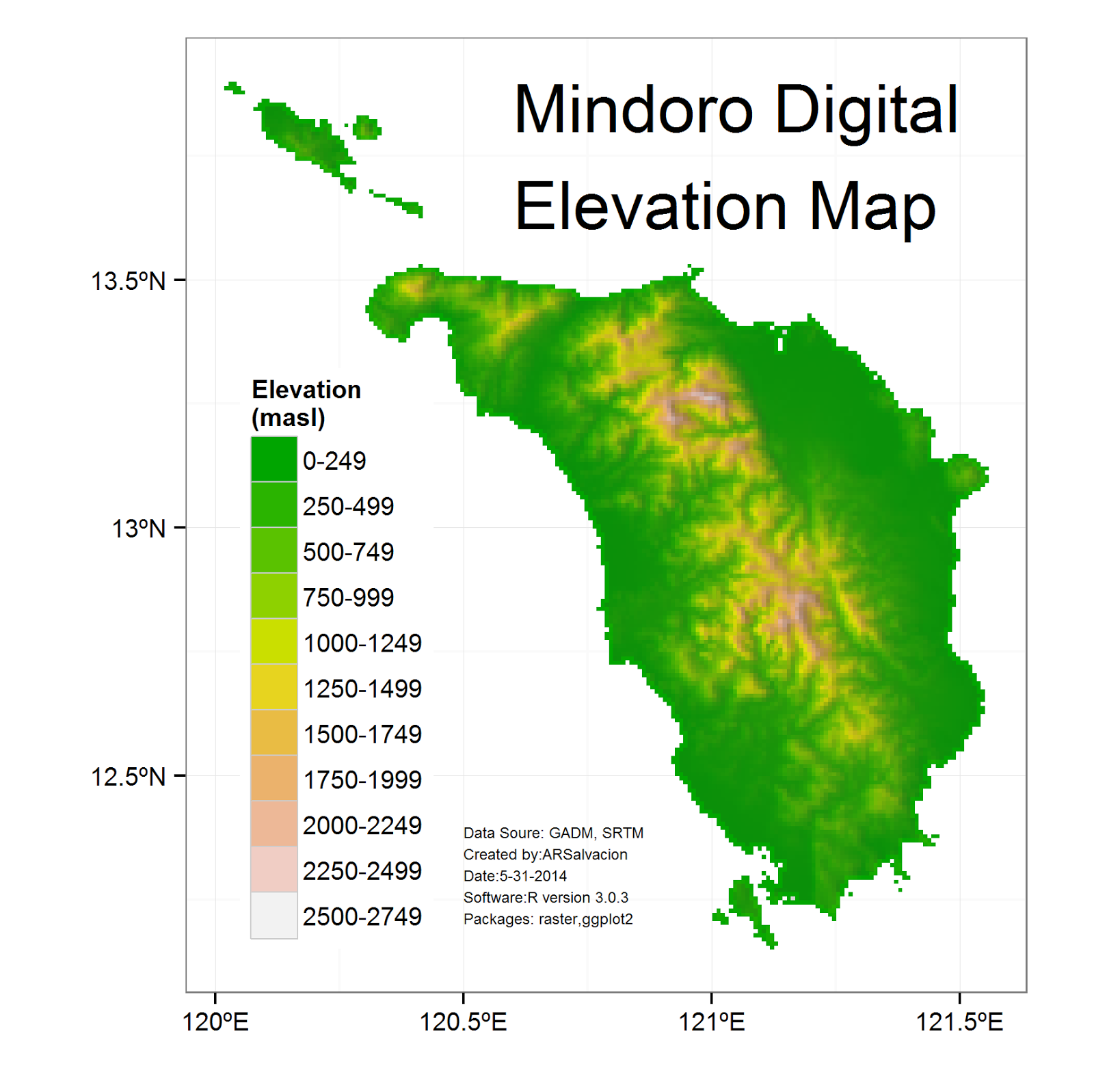 Mindoro Digital Elevation Map Updated R Bloggers