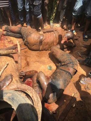 4 Members of the Badoo Terror Gang in Ikorodu Apprehended and Beaten to Death (Photo and Video)
