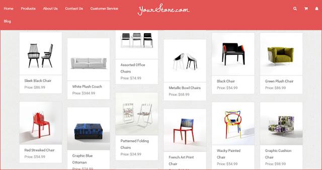 5+ Daftar Koleksi Gratis Template Blogger untuk Toko Online 2
