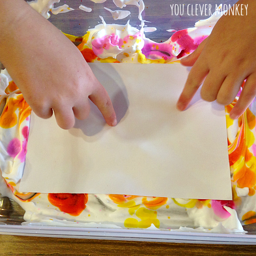 Easy to do art - shaving cream marbling | you clever monkey