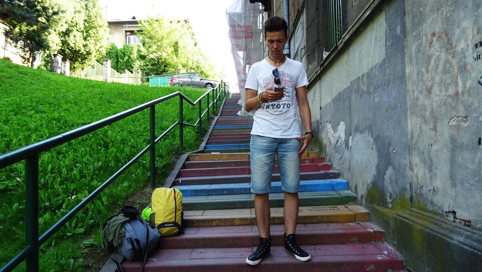 kraków kolorowe schody tatrzańska