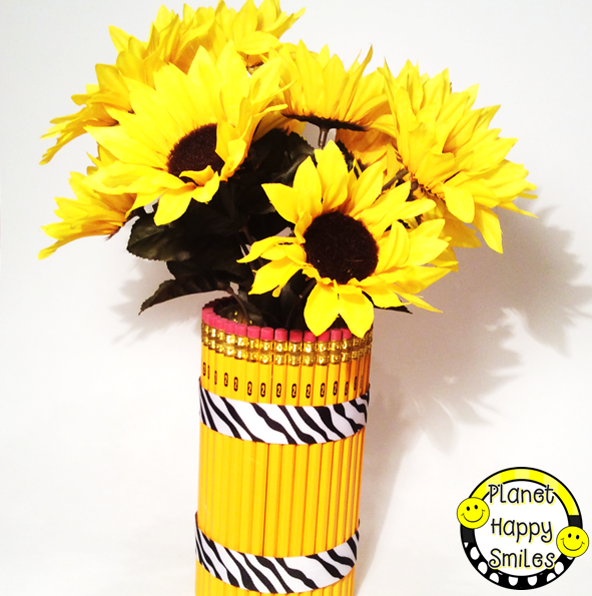 DIY Pencil Vase from Planet Happy Smiles
