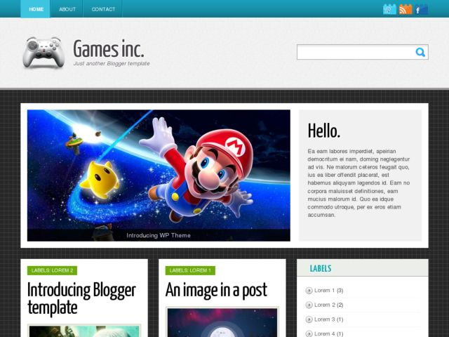 Games Inc Blogger Template
