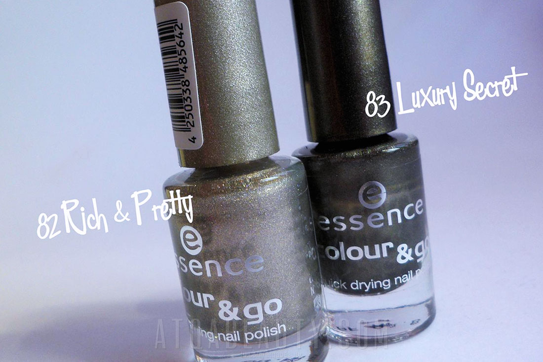 Paznokcie :: Skosy z Essence <BR>(Colour & Go Rich & Pretty i Luxury Secret)