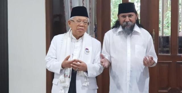 Kiai Ma'ruf Amin Bertemu Habib Ja'far Alkaff, Didoakan Menangi Pilpres