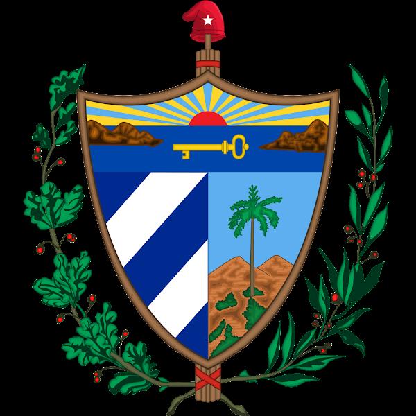 Logo Gambar Lambang Simbol Negara Kuba PNG JPG ukuran 600 px