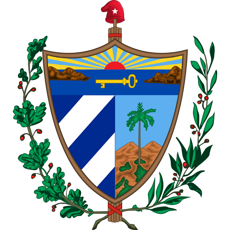 Logo Gambar Lambang Simbol Negara Kuba PNG JPG ukuran 800 px