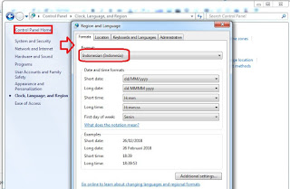 Cara setting titik koma pada microsoft excel