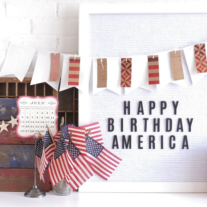 July 4 Heidi Swapp Letterboard Home Decor by Jamie Pate | @jamiepate