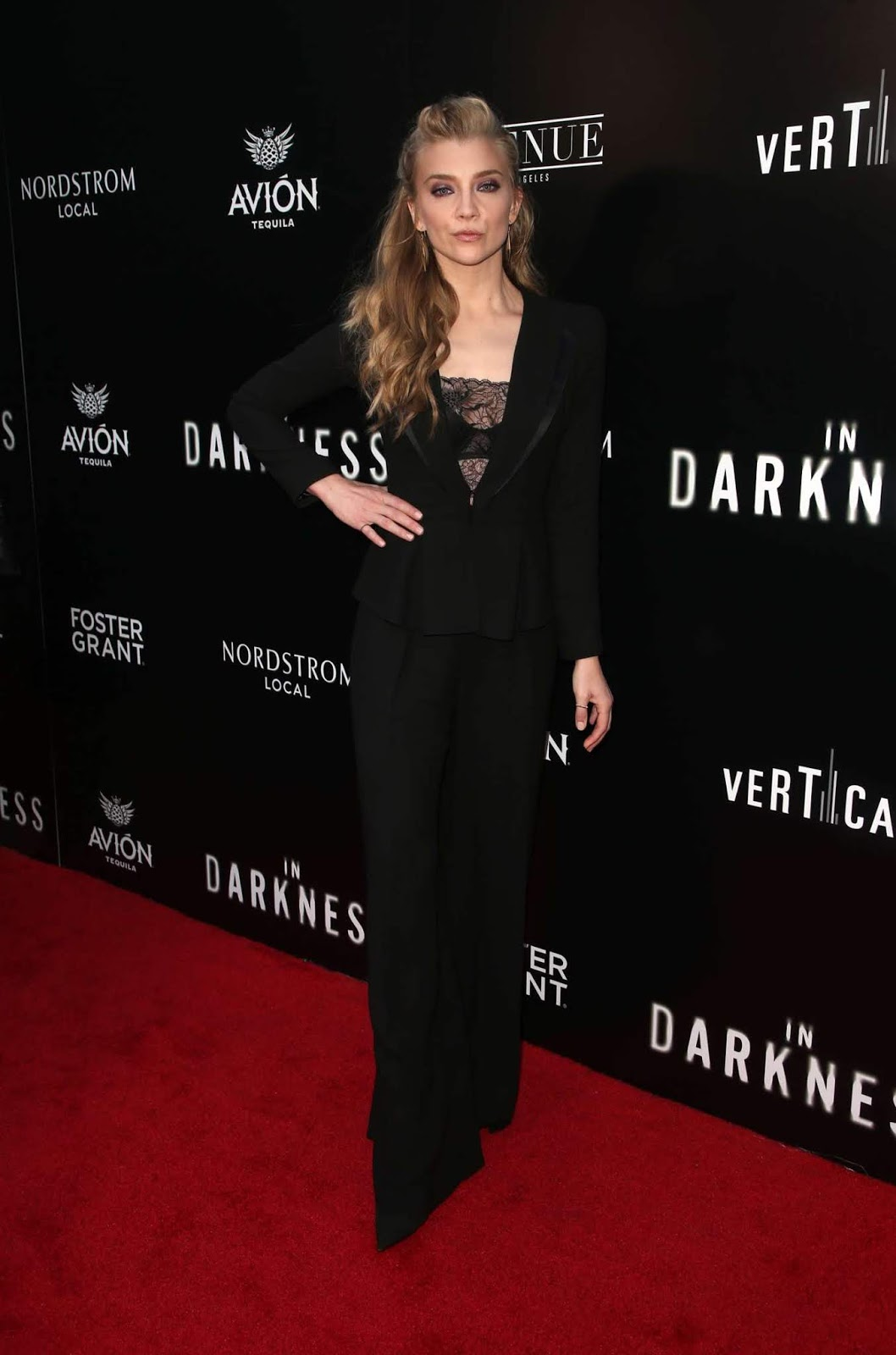 Natalie Dormer bares black lingerie for the 'In Darkness' LA Premiere