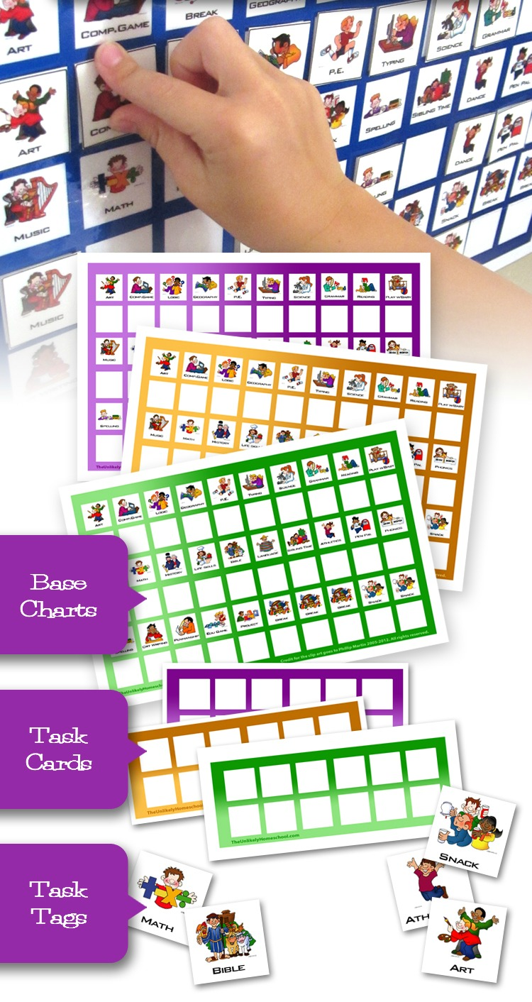 picture relating to Printable Task Cards called The Not likely Homeschool: Process Playing cards
