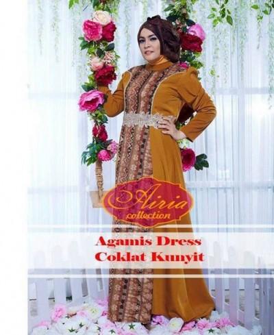 Kumpulan Model Baju Gamis Untuk Wanita Gemuk Desain