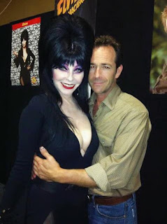 Elvira with Luke Perry