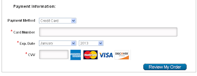 Payment Method: Credit Card