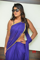 Actress Priya in Blue Saree and Sleevelss Choli at Javed Habib Salon launch ~  Exclusive Galleries 027.jpg