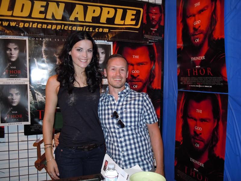 Jaimie Alexander Sif Golden Apple signing