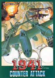 1941 counter attack+game+arcade+retro+shootemup+art+flyer