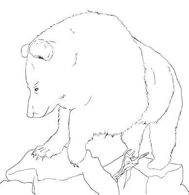 Gambar mewarnai beruang untuk anak - 4