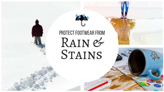 Protect Footwear From Rain & Stains Banner