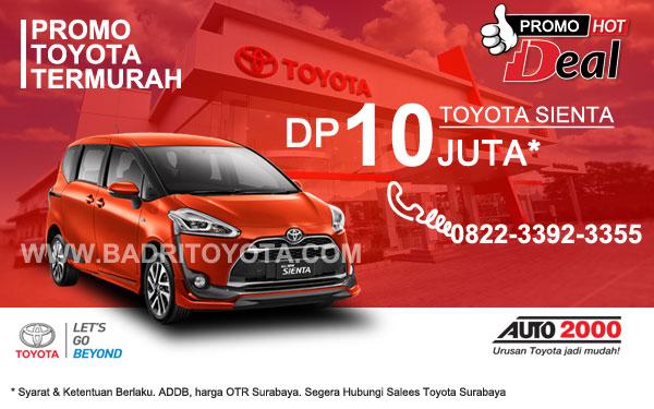 Paket Keren Toyota Sienta DP 10 Juta, Promo Toyota Surabaya