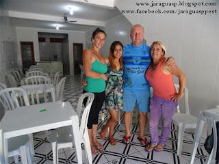 Gracinha, Tauani, Cosme e Cida, moradores do Jardim Bandeirantes