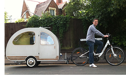 home is where the bike is a bicycle caravan really. Black Bedroom Furniture Sets. Home Design Ideas