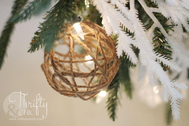 DIY Jute Ball Christmas Ornaments
