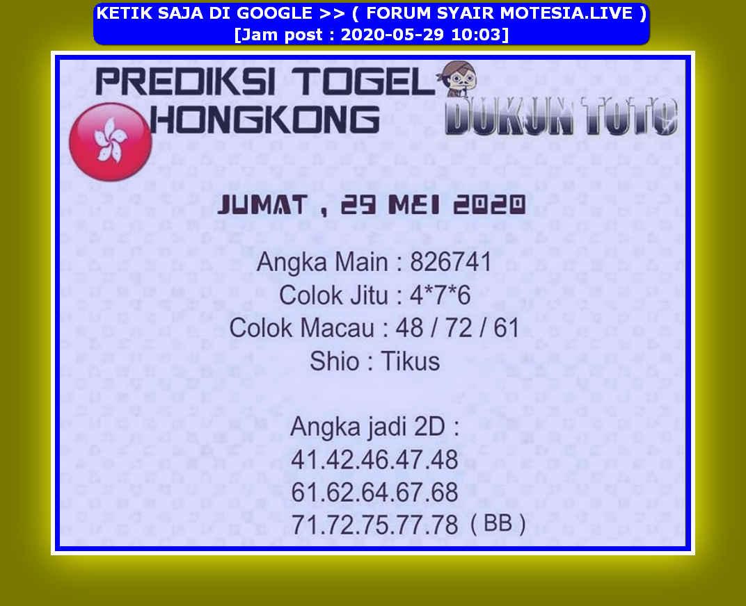 Kode syair Hongkong Jumat 29 Mei 2020 156