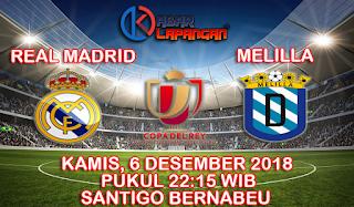 Prediksi Bola Real Madrid vs Melilla 6 Desember 2018