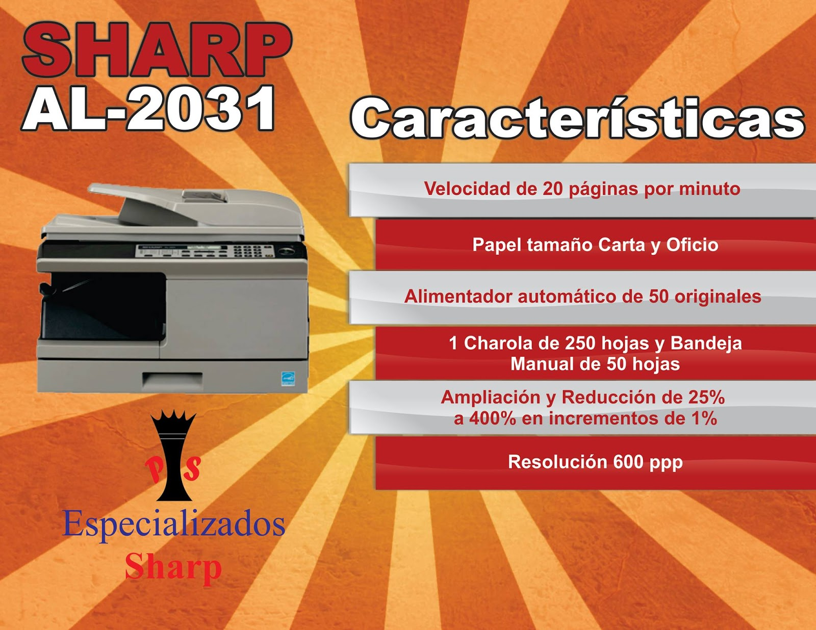 Mercado Libre Copiadoras Sharp Al 2031 Copiadora Impresora Al2031 9 700 00 En