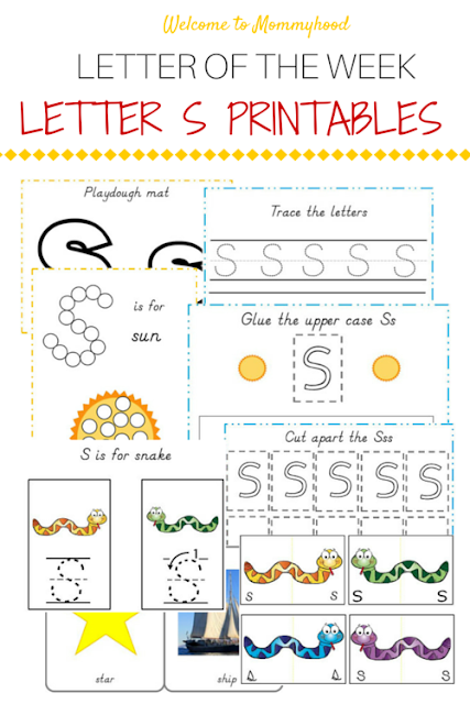 Tot Labs presents Letter of the Week: FREE letter S printables pack by Welcome to Mommyhood, #preschoolactivities, #montessoriactivities, #montessori, #handsonlearning, #letteroftheweek, #lotw, #freeprintables