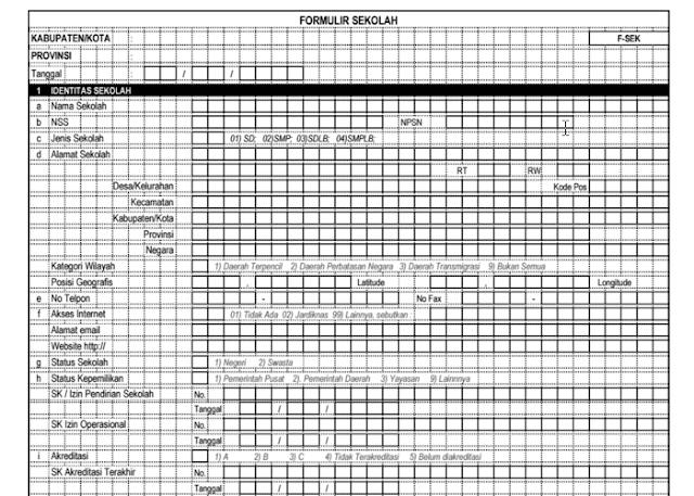 Download Formulir Pendataan PTK Dapdikdas - www.berkassekolah.com
