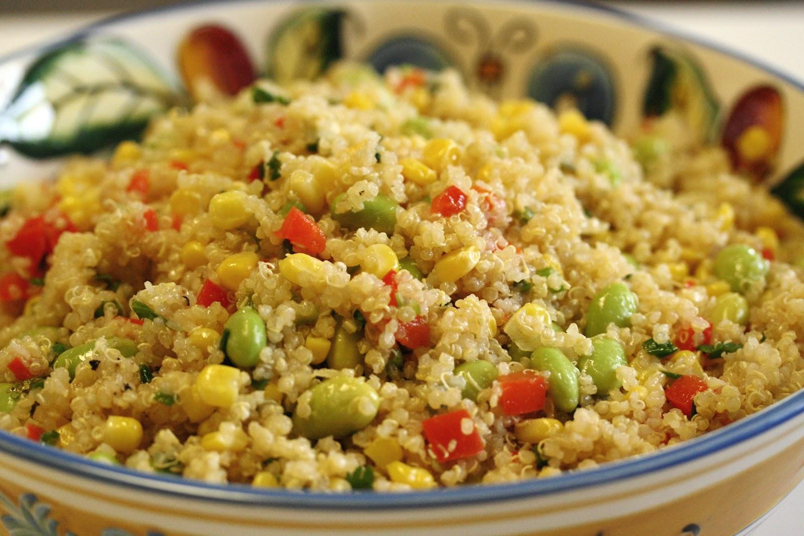 Quinoa Edamame and Corn Salad - Saving Room for Dessert