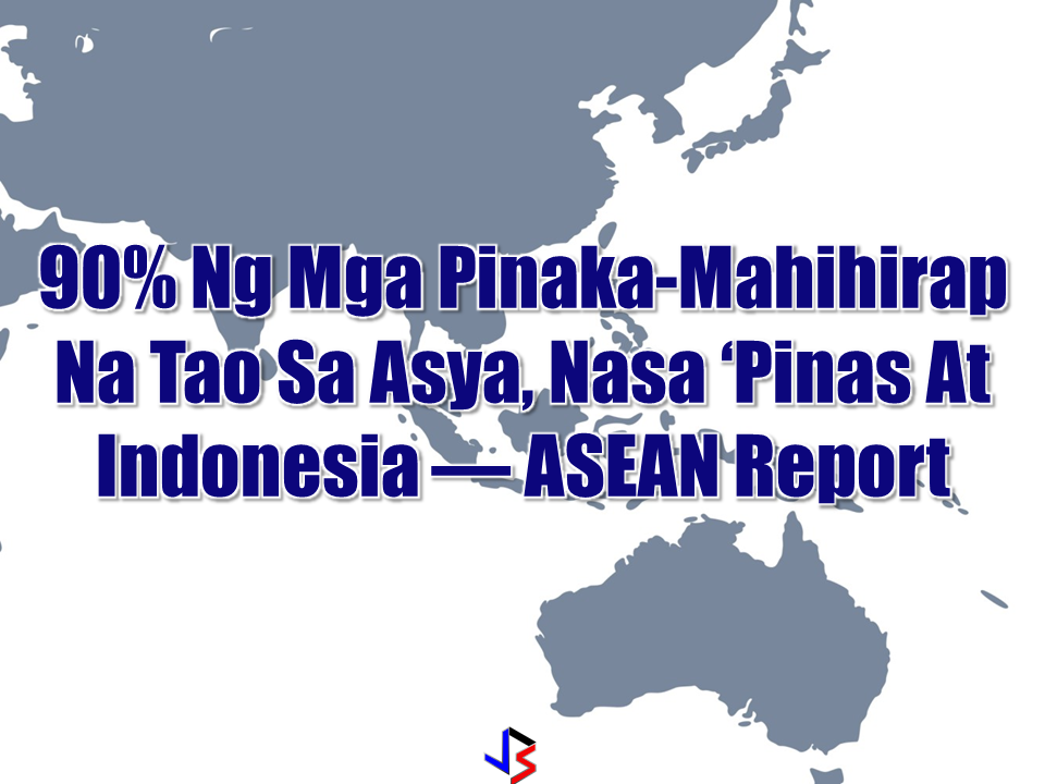"""Almost 90 per cent of people living below the international poverty line are in Indonesia and the Philippines, states a recent report released by Association of Southeast Asian Nations (ASEAN).  The report was launched on November 17 in Jakarta, Indonesia by ASEAN in cooperation with United Nations Development Program (UNDP) and China, and is titled """"ASEAN-China-UNDP Report on Financing the Sustainable Development Goals (SDGs) in ASEAN: Strengthening Integrated National Financing Frameworks to Deliver the 2030 Agenda.""""  According to the ASEAN report quoted in The Philippine Star, extreme poverty has fallen across the region from 17% in 2005 to 7% in 2013, many of the working poor remain vulnerable to falling back in to poverty. It is important for ASEAN as a region, and Member States to identify how to finance poverty eradication programs in order to realize the Sustainable Development Goals (SDGs) and ASEAN Vision 2025. Sponsored Links In his remarks during the report launch, Vongthep Arthakaivalvatee, deputy secretary-general for ASEAN Socio-Cultural Community, said """"ASEAN's greatest asset is its people and proper financing will enable (them) to reach their potential.""""  While ASEAN has made progress in addressing infectious diseases, challenges still prevail and ASEAN is now facing rising rates of non-communicable diseases. Providing universal health coverage (UHC) is important to improve the lives of the people in ASEAN.  The report states Brunei Darussalam, Malaysia and Thailand provide UHC through a tax-funded system while Singapore provides UHC through a contribution-based system that includes a social assistance component.  Indonesia is committed to providing UHC and has set a target for achieving UHC by 2019. """"The design and configuration of the financing model used affects how successfully the policy reaches the poorest people, expands the range of services on offer and reduces the costs they face,"""" the report is quoted stating.  """"Financing SDGs is everyone"""