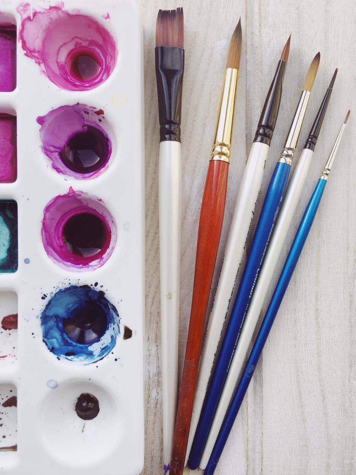 Brushes - Watercolor Brushes - Watercolor Tips - Art Blog - theartsyboho.com