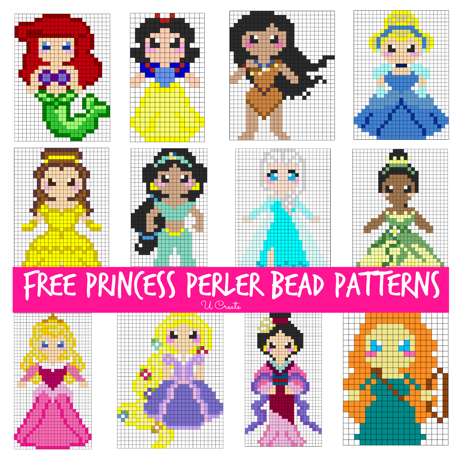 free perler bead patterns for kids  [ 1600 x 1600 Pixel ]