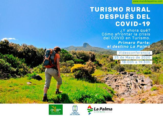 Turismo Rural después del Covid-19 - Nueva oferta formativa de ADER LA PALMA para recuperar el turismo rural de cara al reinicio de la actividad después de la crisis