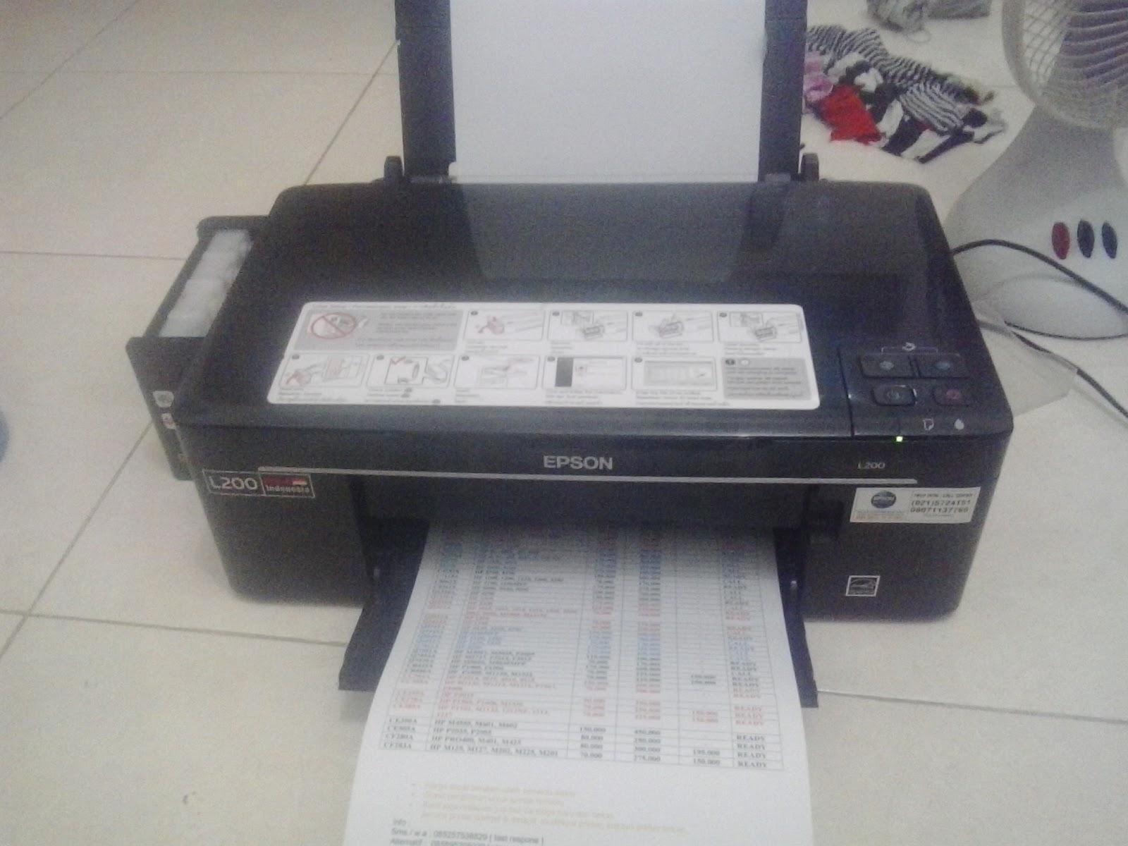 Jual Epson L200 Bekas Mulus Specialist Refill Toner