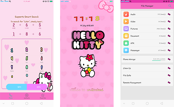 oppo theme oppo hello kitty super cute theme