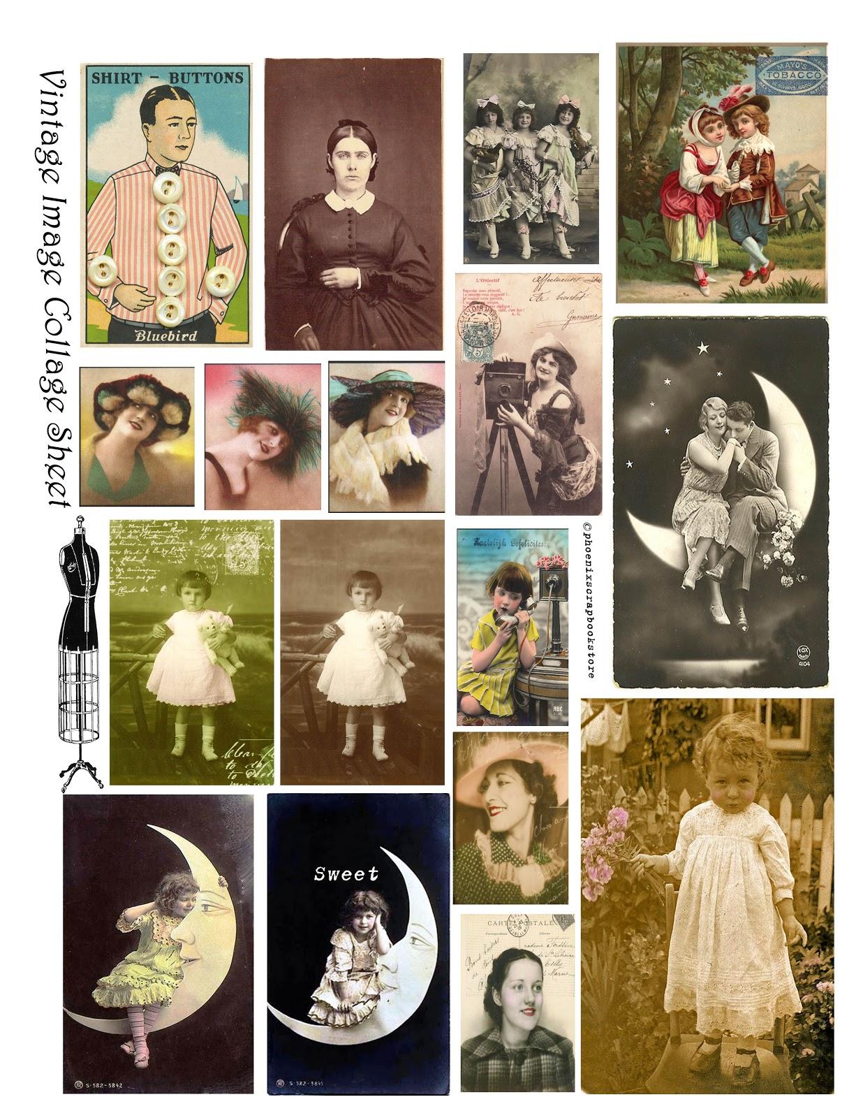 Free Vintage Digital Stamps Free Printable